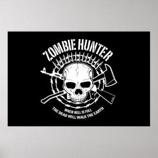 undead del cazador del zombi que viven absolutamen póster