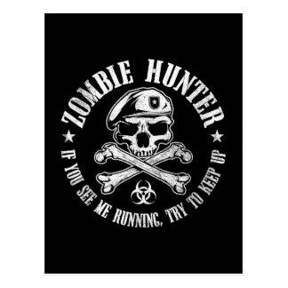 undead del cazador del zombi que viven postal