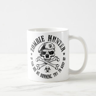 undead del cazador del zombi que viven taza clásica