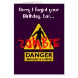 Undead del zombi y cumpleaños Unfed Felicitaciones