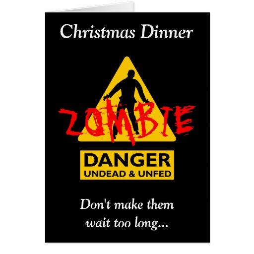 Undead del zombi y navidad Unfed Tarjeta