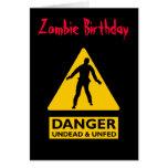 Undead del zombi y Unfed Felicitaciones