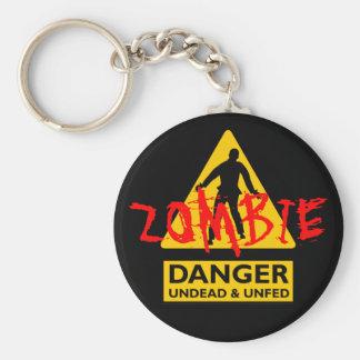 Undead del zombi y Unfed Llavero Redondo Tipo Pin
