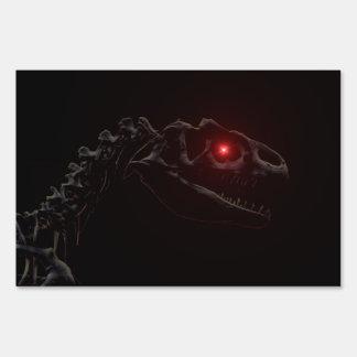 Undead Dinosaur Lawn Sign
