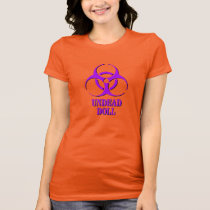 Undead Doll shirt with biohazard symbol.