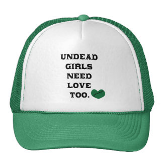 Undead Girls Need Love Too Mesh Hat
