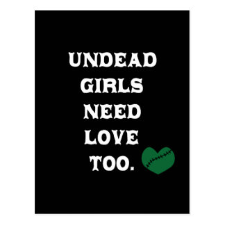 Undead Girls Need Love Too Postcard