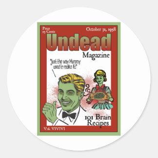 Undead Magazine Classic Round Sticker