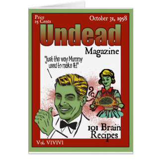 Undead Magazine Greeting Card