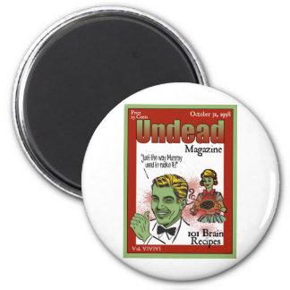 Undead Magazine 2 Inch Round Magnet