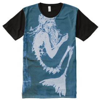Undead Mermaid Skeleton Shirt - Blue