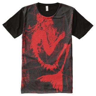 Undead Mermaid Skeleton Shirt - Red