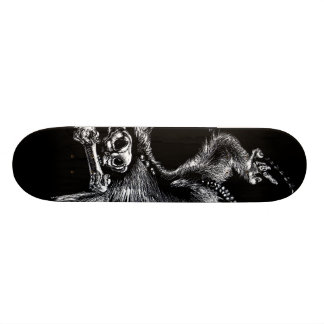 Undead Monkey with Harmonica Skateboard Deck