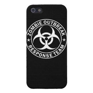 Undead muertos c del zombi del equipo de la respue iPhone 5 carcasa