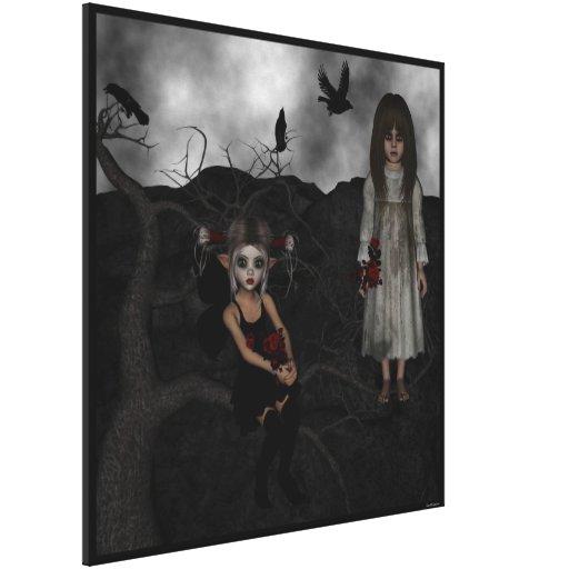 Undead oscuros Rosemary del cuervo del lobo del du Lona Envuelta Para Galerias