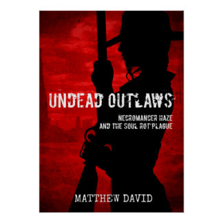 Undead Outlaws - Patchwork Ellie Silhouette Poster