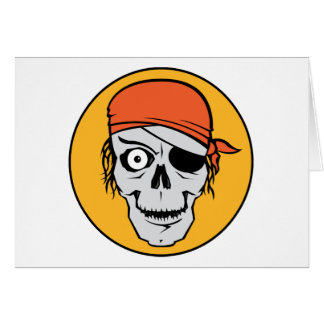Undead Pirate Badge Card