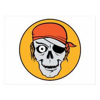 Undead Pirate Badge Postcard