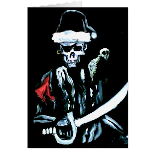 Undead Pirate Christmas Card