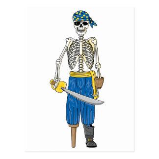 Undead Pirate Postcard