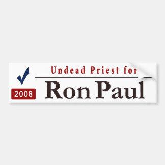 Undead Priest for Ron Paul Car Bumper Sticker