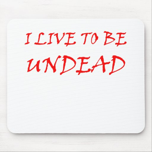 Undead (red) mouse pad
