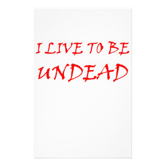 Undead (red) customized stationery