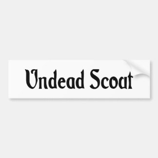 Undead Scout Bumper Sticker