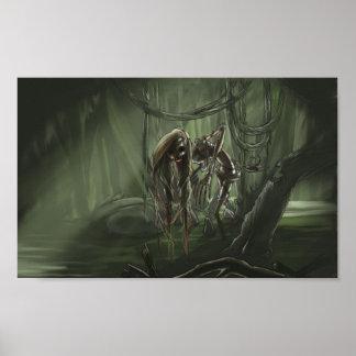 Undead Swamp Maiden Poster