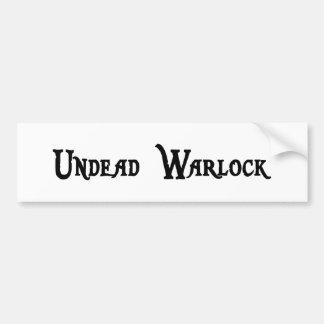 Undead Warlock Bumper Sticker