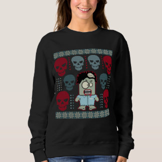 Undead Zombie and Skulls Ugly Holiday Sweater
