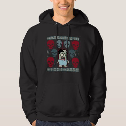 Undead Zombie and Skulls Ugly Holiday Sweater After Christmas Sales 3301