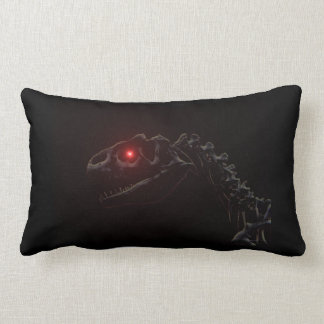 Undead Zombie Dinosaur Skeleton Lumbar Pillow