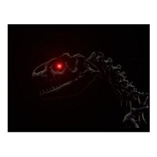 Undead Zombie Dinosaur Skeleton Postcard
