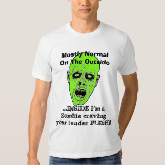 Undead Zombie Head - funny sayings - Craving Flesh Shirt