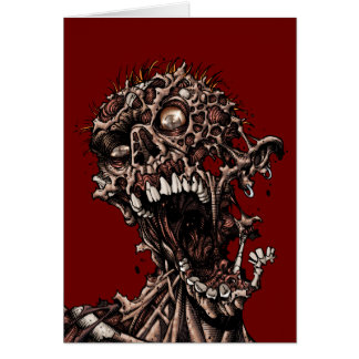 Undead Zombie's Anguished Rotten Flesh Cry Card