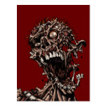 Undead Zombie's Anguished Rotten Flesh Cry Postcards