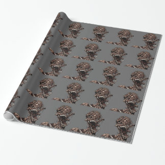 Undead Zombie's Anguished Rotten Flesh Cry Wrapping Paper