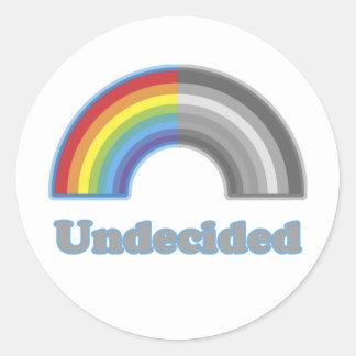 Undecided Rainbow Classic Round Sticker