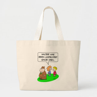 undecided since 1984 canvas bags