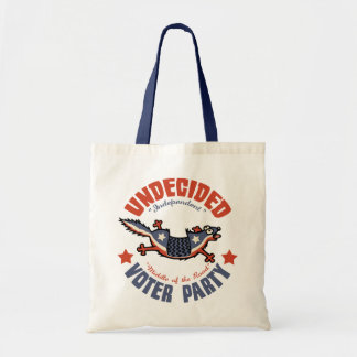Undecided Voter Party Mascot Tote Bags
