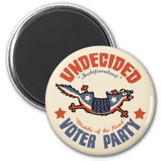 Undecided Voter Party Mascot Fridge Magnets