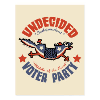 Undecided Voter Party Mascot Post Card