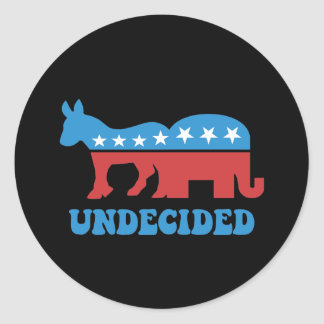 undecided voters classic round sticker