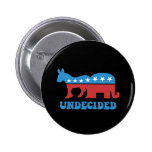 undecided voters pinback button