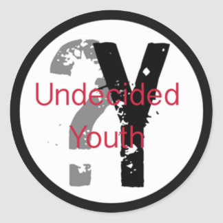 Undecided Youth Stickers (1-1/2 inch)