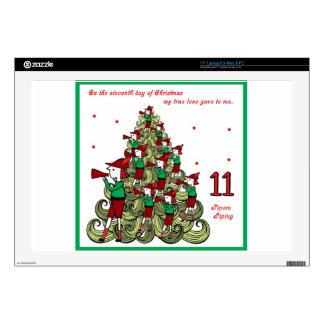 Undécimo día de navidad skins para 43,2cm portátil