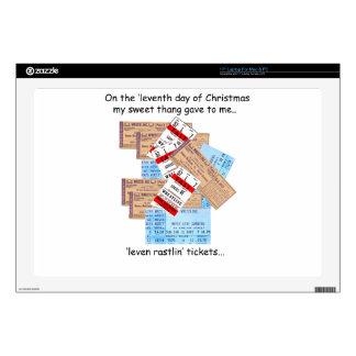 Undécimo navidad del campesino sureño del día calcomanías para 43,2cm portátiles