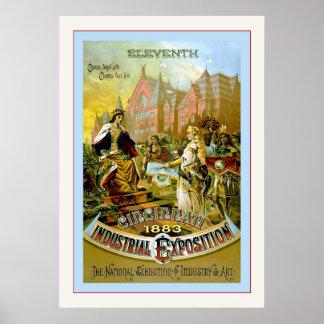 Undécimo vintage industrial de Cincinnati Expositi Poster