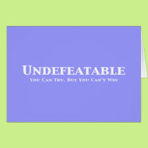 Undefeatable Gifts Card